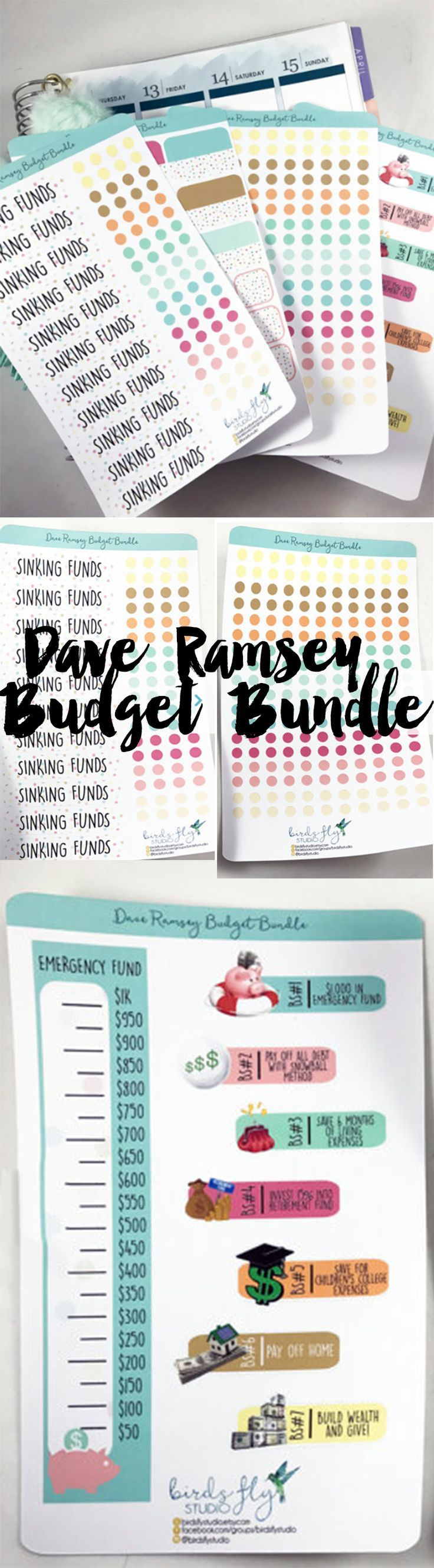 Love these! Dave Ramsey Planner stickers!