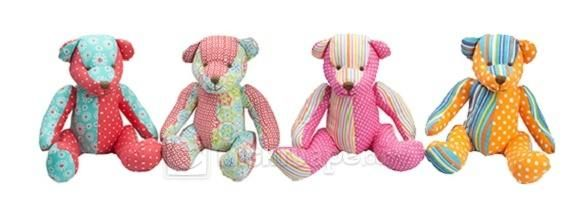 Lily & George Patchwork Bears - Assorted