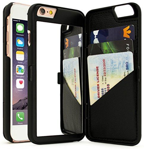 - Protect your iPhone while maintaining style and functionality is easy with the hidden mirror wallet phone case. - This high-quality case is compiled with high-quality PC material for optimal protect