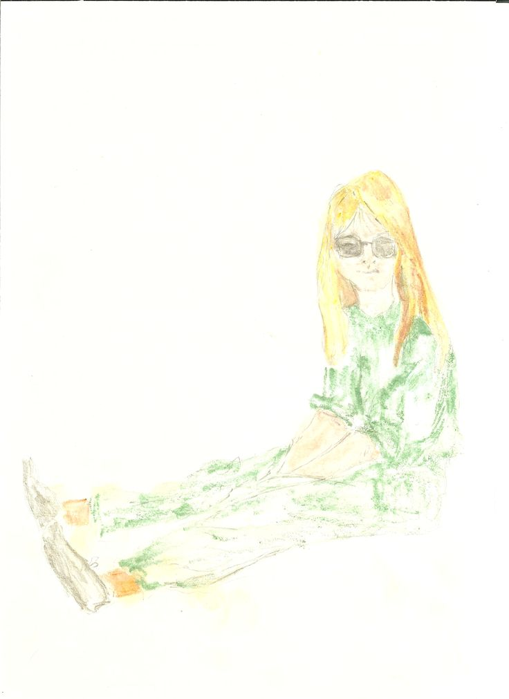 girl in green