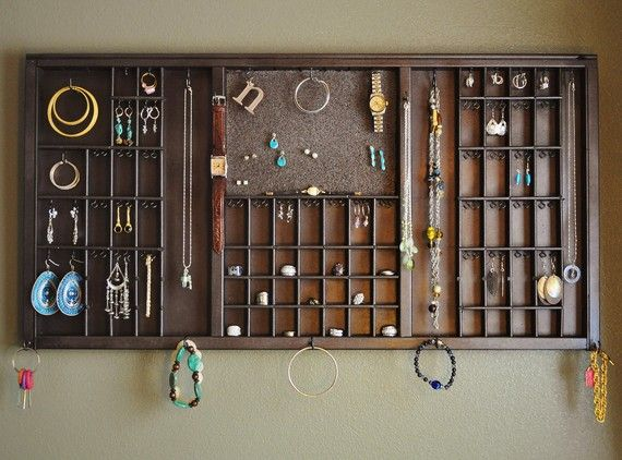 MADE TO ORDER  Antique Printers Drawer Jewelry by TatumBradleyCo, $118.00