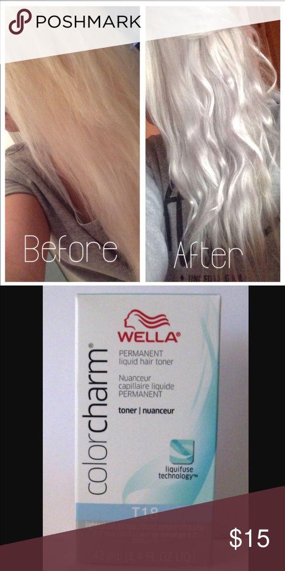 Wella t18 Toner Perfect permanent toner for platinum blonde  wella Accessories Hair Accessories