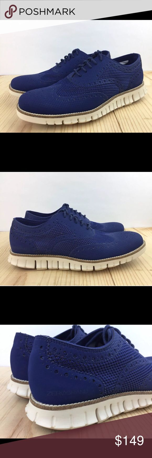 Cole Haan Zero Grand Oxford No Stitch Shoes C25714 COLOR: RAINSTORM BRAND NEW WITH BOX  Wingtip with synthetic uppers. EVA midsole with rubber outsole. Cushioned with Grand.OS technology.  If you have any questions, don't hesitate to message me. Thank you Cole Haan Shoes Oxfords & Derbys