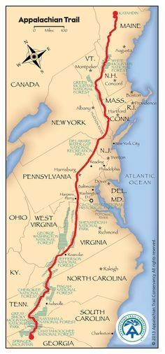 Appalachian Trail Map - site full of information about the trail, from volunteer info to leaving no trace guidelines.  Definitely a bucket list item!                                                                                                                                                                                 More