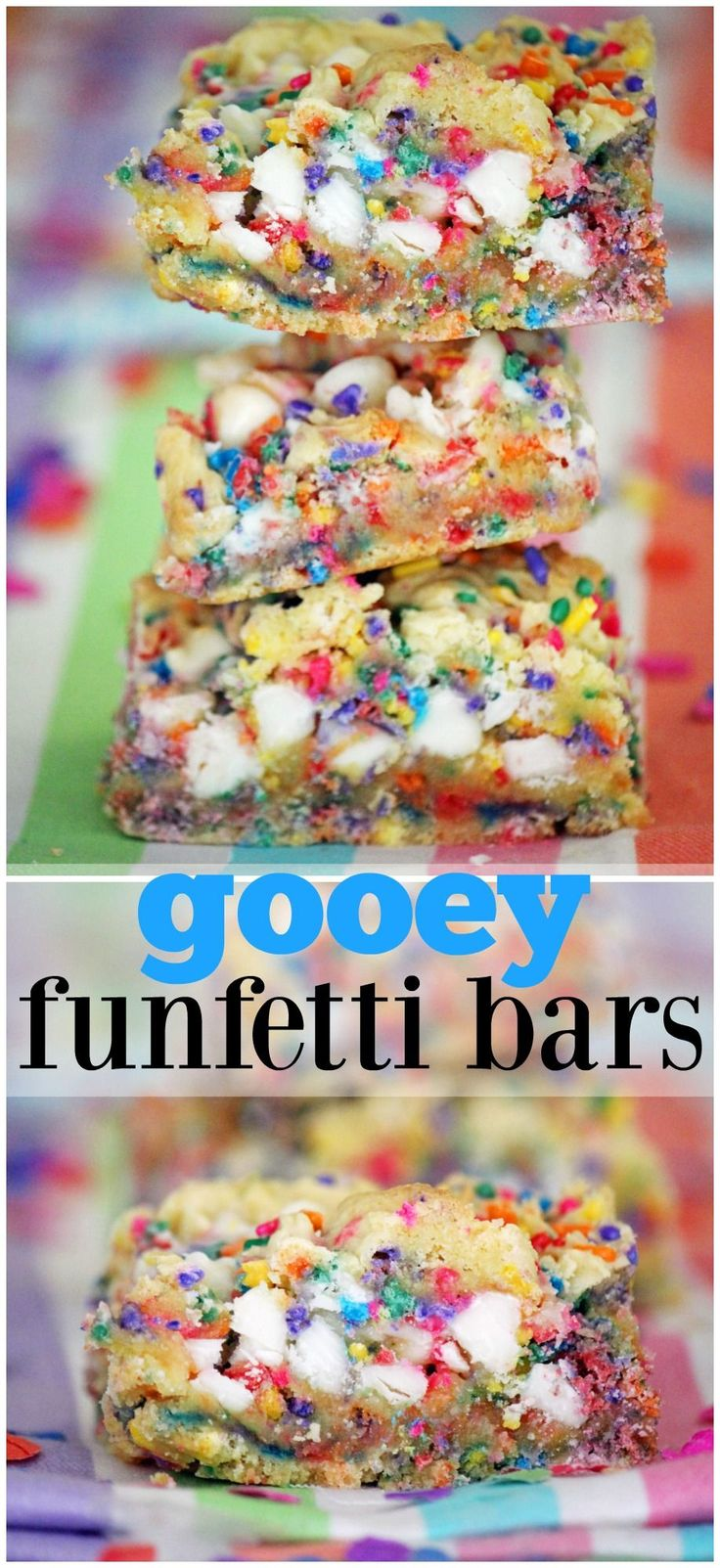 the BEST funfetti bars chock-full of white chocolate chips & sweetened condensed milk