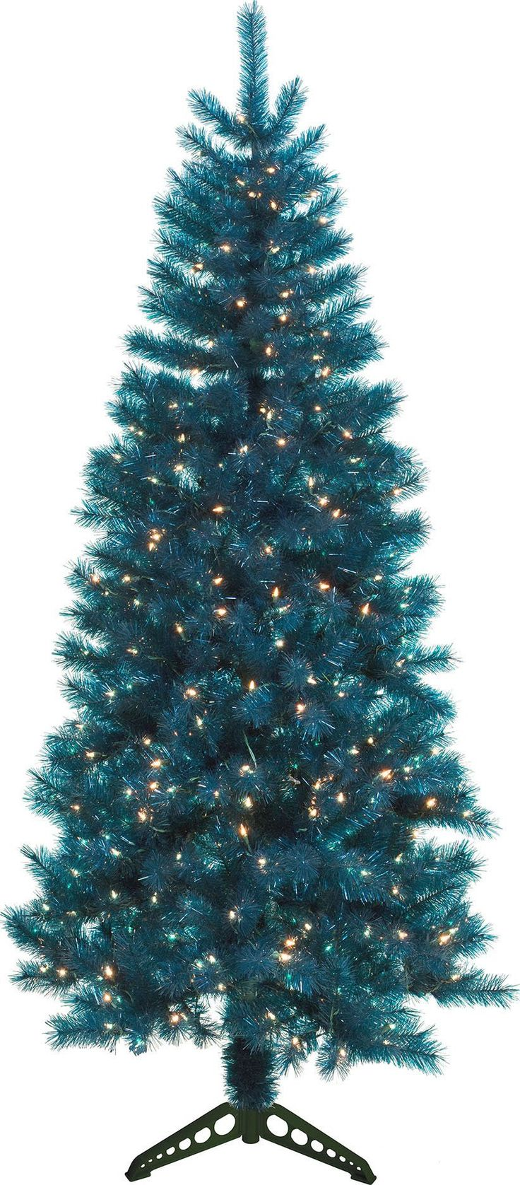 General Foam Plastics-Mountain King Prelit Artificial Christmas Tree- Teal Trans 4 Foot