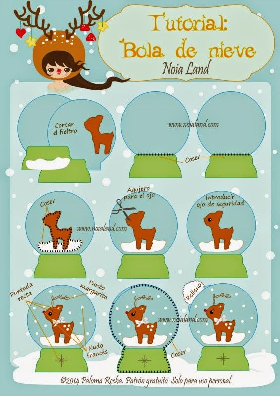 Noia Land: Tutorial: Bola de nieve de fieltro.