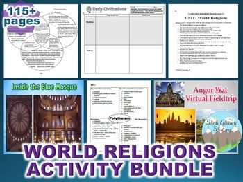 World Religions Activity Bundle (World History / Comparati
