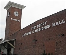 Largest antique mall in the South!  The depot at Gibson Mill, Concord, NC