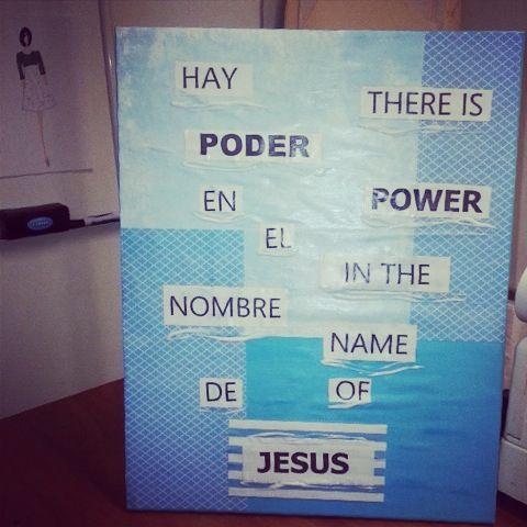 There is Power in the name of Jesus to break Every Chain Hay Poder En El Nombre de Jesus para romper TODA CADENA #Jesus #thereispower #wallart #etsy #haypoderenJesus
