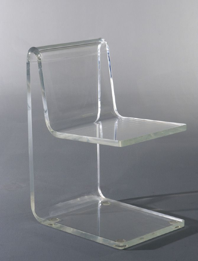 Jean Dudon: plexiglass side chair, 1968.