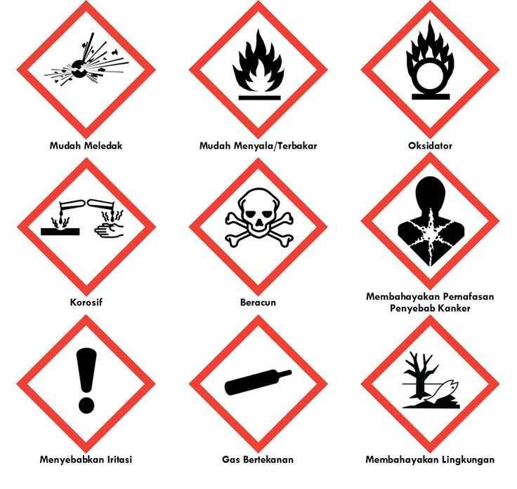 Label (Tanda/Simbol) Kemasan Bahan/Material Berbahaya/B3 (Bahan Beracun dan…