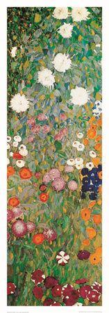 Blomsterhave, udsnit Plakat af Gustav Klimt på AllPosters.dk
