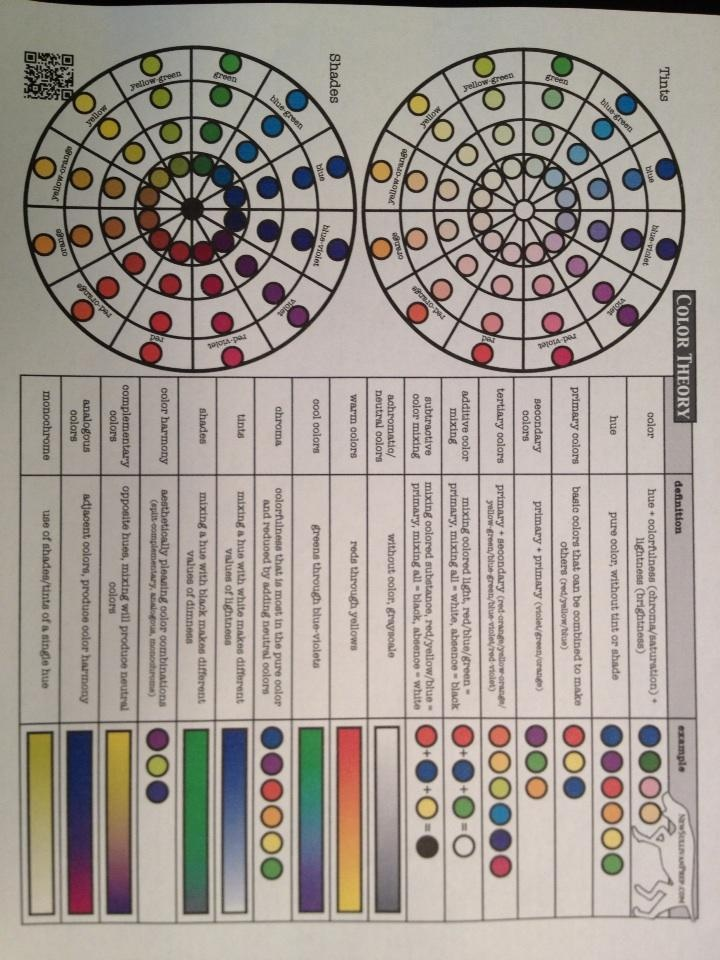 #Color theory #worksheets available in the #art section of NewSullivanPrep.com http://newsullivanprep.com/New_Sullivan_Prep/Art.html