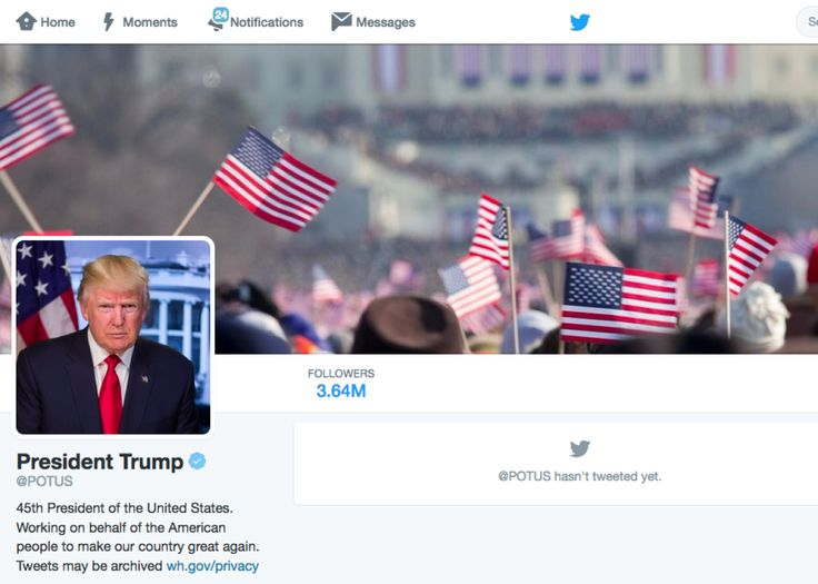 President Donald Trump officially took over the @POTUS Twitter account on Friday: The new Twitter background made me wonder: Whose inauguration is this ...