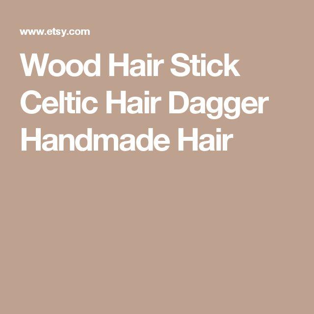 Wood Hair Stick Celtic Hair Dagger Handmade Hair