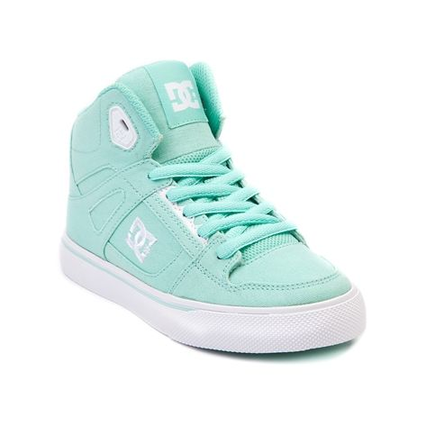 Shop for YouthTween DC Spartan Hi Skate Shoe in Mint at Journeys Kidz. Shop today for the hottest brands in mens shoes and womens shoes at JourneysKidz.com.Skate with the courage, strength, and speed of a Spartan warrior! This Journeys Kidz exclusive edition DC Spartan high top features a durable mint green synthetic upper, high padded collar, monochrome lace closure, cushioned footbed, and vulcanized rubber outsole for flexible board gripping traction and control. Available exclusively at…