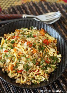 Retour à Bali avec cette recette de Nasi Goreng (servi d'ailleurs dans toute l'Indonésie). C'est une recette facile et rapide à réaliser ...