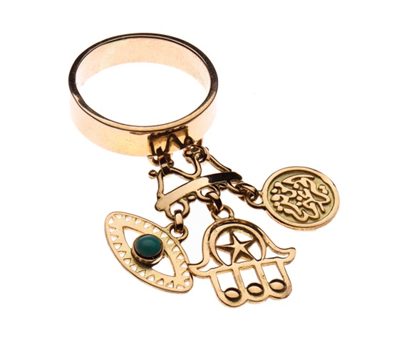 Azza Fahmy   Gold Charm Ring