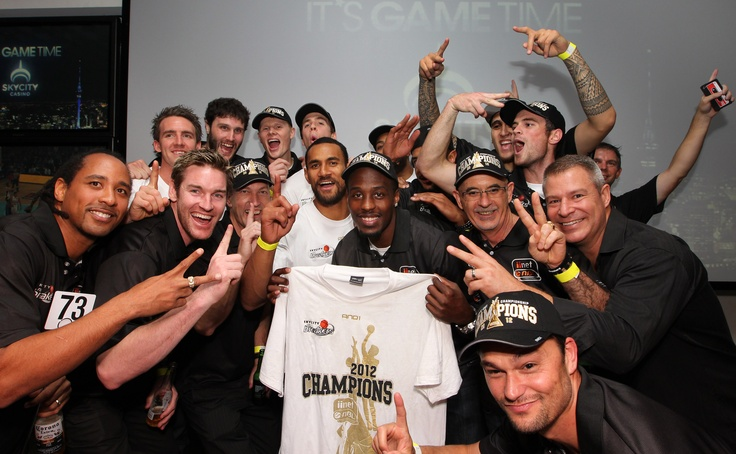 @ The Nation's Clubrooms - The SKYCITY Breakers celebrate a second ANBL Championship win!