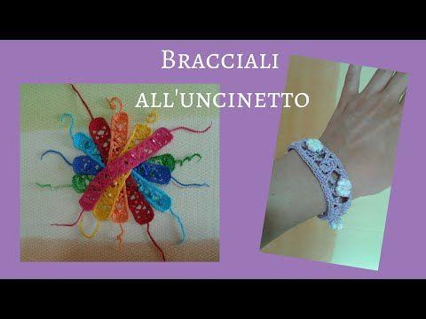Bracciale ad Uncinetto - Crochet a Bracelet (tutorial with English sub) - YouTube