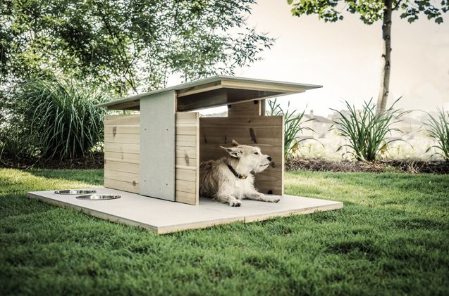 Offering modern, minimalist design, this maintenance-free dog den is the next level of luxe living.