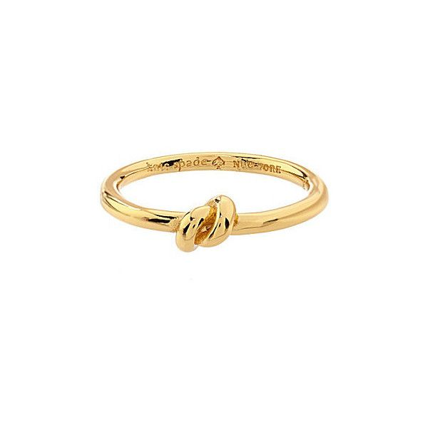 kate spade new york Sailor s Knot Ring ($48) ❤ liked on Polyvore featuring jewelry, rings, bracelets, kate spade, bracelet jewelry, knot bracelet, knot jewelry and kate spade jewelry