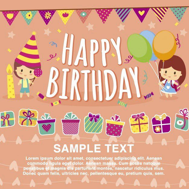 Templates For Cards Free Downloads Unique Happy Birthday Card Template Vector Free Birthday Card Simple Birthday Cards Happy Birthday Template