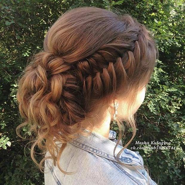 Fishtail Braid to a Bun Updon