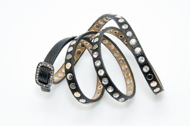 Black Multiple Studded Bracelet