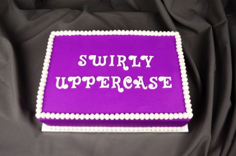 Swirly Uppercase Flexabet™
