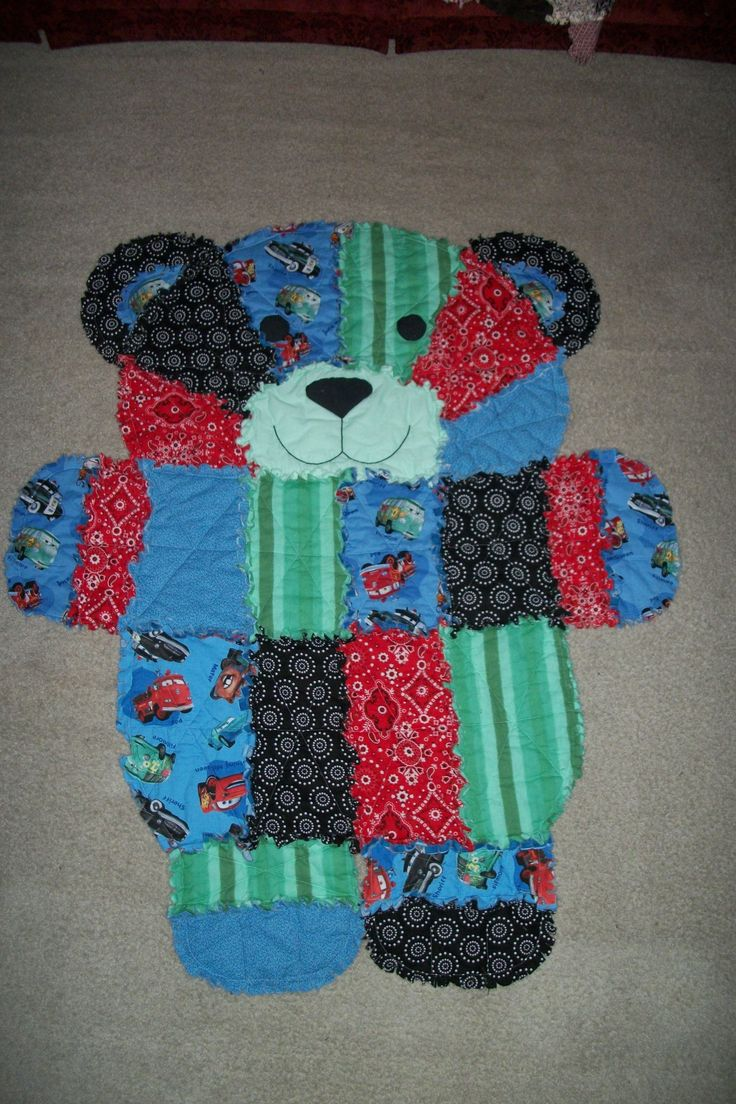 Bear Rag Quilt - check it out on Auntie Em's Quilts & Such on Facebook