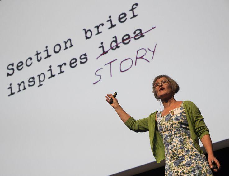 Designer Fifi Colston lectures at the 2013 WOW Designers Symposium