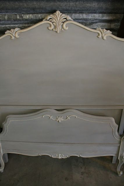 FURNITURE: Annie Sloan Chalk Paint - Paris Grey with wash of Coco and water; Old White on the trim / Reloved Rubbish.