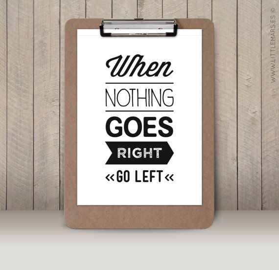 SALE  A4 Typographic print  Quote print  When by LittleMars