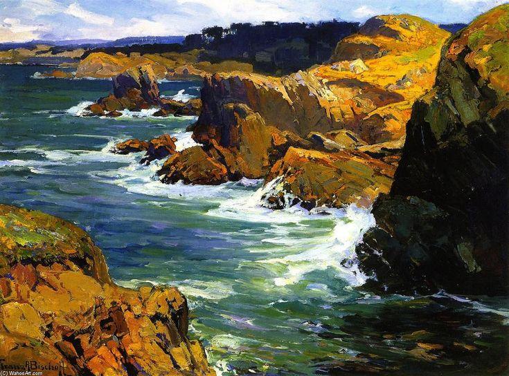 """""""Lobls Point"""", óleo sobre lienzo de Franz Bischoff (1864-1929, Austria)"""