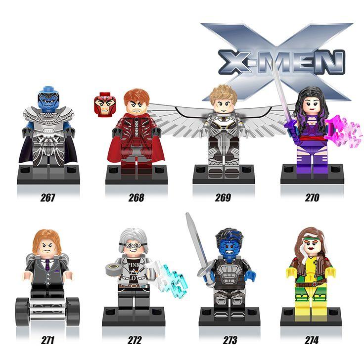 New 1pcs Marvel X-men Super Hero Rogue/Professor X/Psylocke/Iceman/Mystique X man diy figures Children Gift Toys
