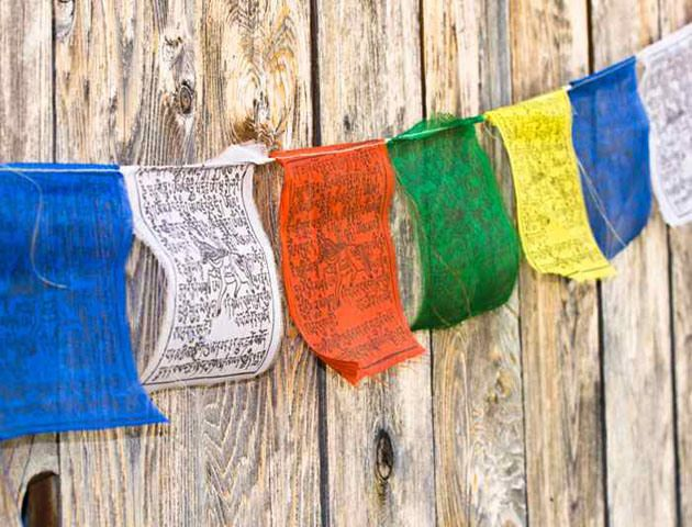 Bhutan's Prayer Flags these flags are a common sight, symbolic to the Buddhist beliefs, these flags are strung along the mountain ridges and peaks as prayers for good luck, prosperity and general happiness...!!