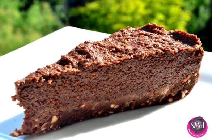 Sütés nélküli csokoládé torta (nyers, vegán, paleo csoki torta) ~ Éhezésmentes Karcsúság Szafival