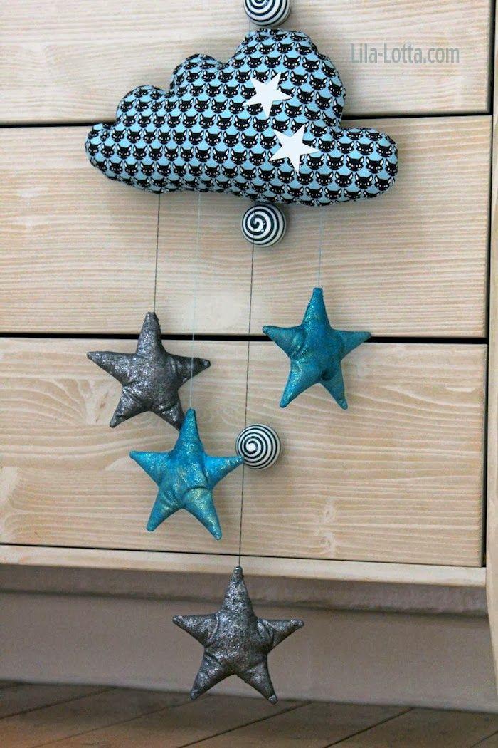 Lila-lotta BLOG / die Sterne habe ich mit Textil Stoffmalfarben Glittet Creativ bemalt