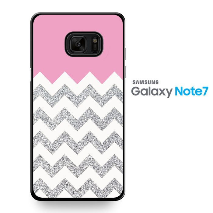 Pink Silver Glitter Chevron TATUM-8715 Samsung Phonecase Cover For Samsung Galaxy Note 7