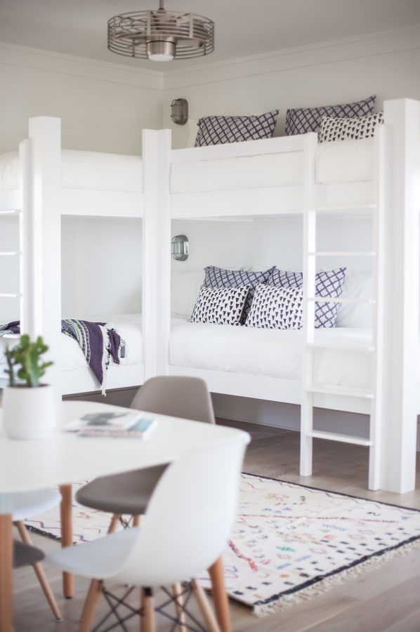 coastal modern kids room bunk beds                                                                                                                                                                                 More