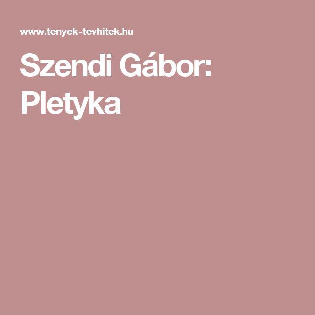 Szendi Gábor: Pletyka