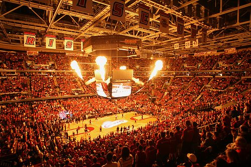 Quicken Loans Arena, Cleveland, OH - Saw a match up between LeBron James & Houston Rockets with Yao Ming still on the roster here - crazy fun!