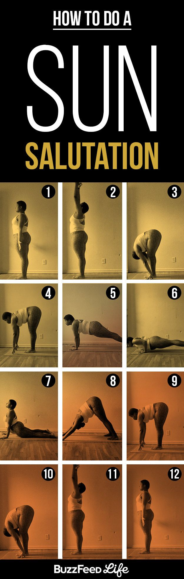 Here's How To Actually Do A Sun Salutation #yogaeverydamnday #yogaforeverybody