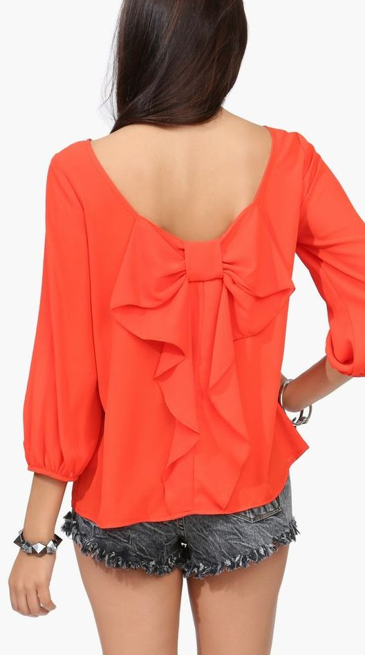 Bow blouse // beautiful back