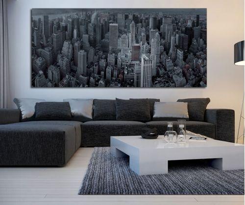 New York fish eye πανοραμικός πίνακας σε καμβά