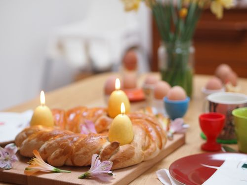 Celebrating Spring: How to Make An Easter Bread Ring - Seeds and Stiches