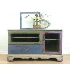 Rustic Pastel TV Cabinet