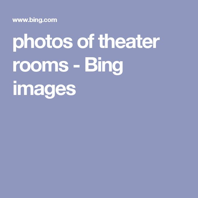 photos of theater rooms - Bing images